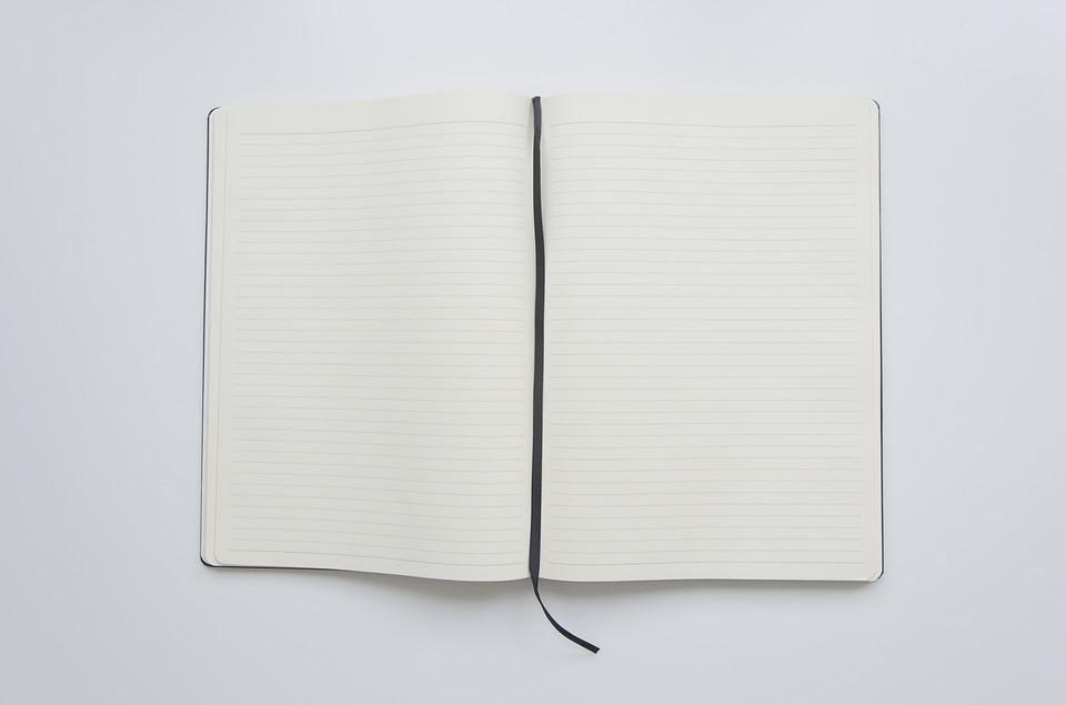 notebook open book open paper book page white