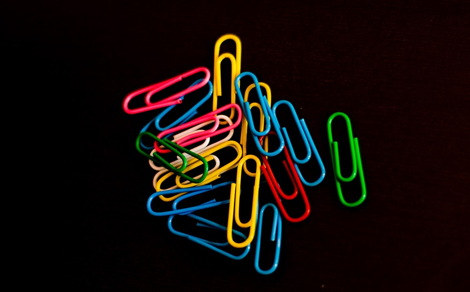 Paper Clip, Color, Colour, Office, Colorful, Design