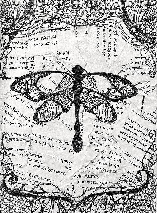 Dragonfly, Art, Artistic, Paper, Creative