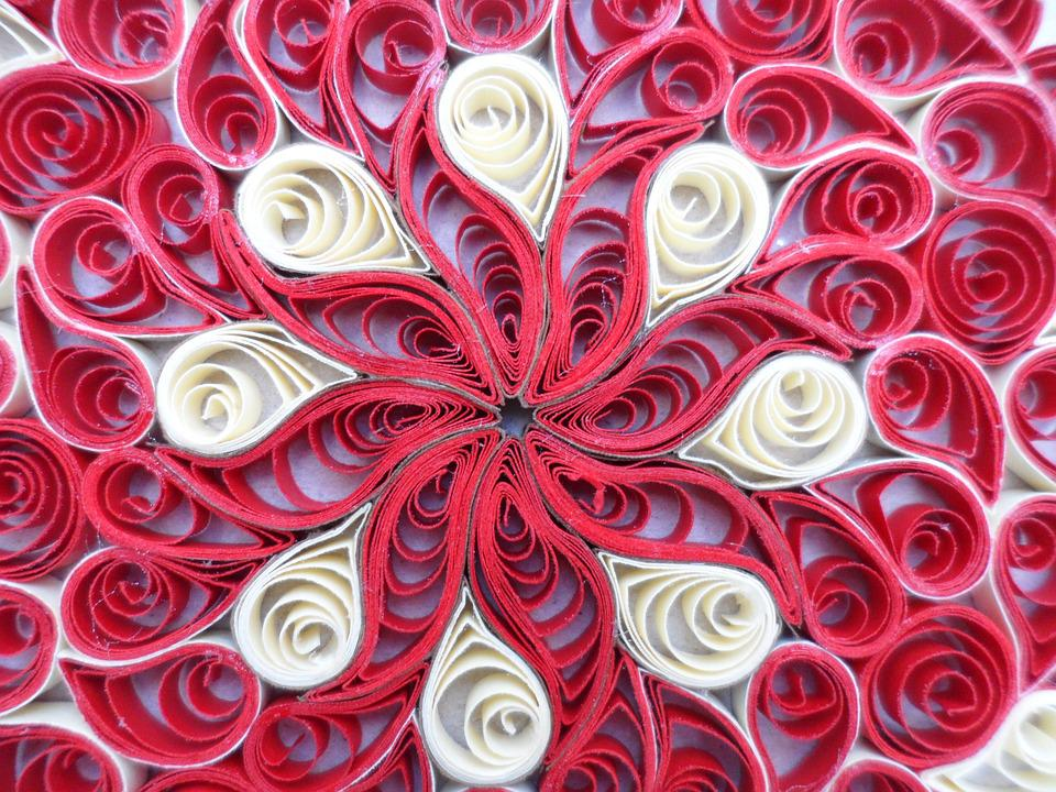Geometry, Filigree, Red, Paper