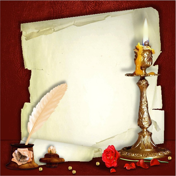 Guestbook, Paper, Old, Candle, Pen