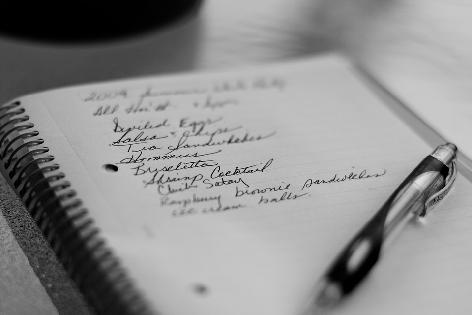 Grocery List, Pen, Paper, Notepad, Memo, Shopping