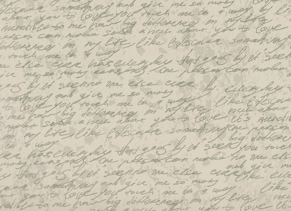 Background, Font, Old, Letters, Paper, Stains, Leave