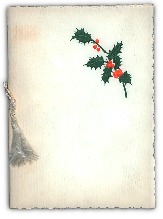 Paper, Parchment, Holly, Christmas, Scroll, Blank