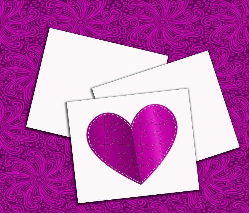 Love, Paper, Mensaje, Greeting, Heart, Texture