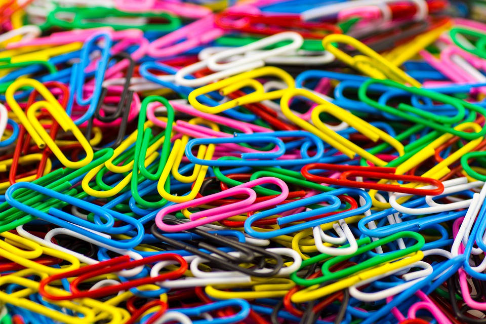 Paperclip, Clip, Office, Office Accessories, Color