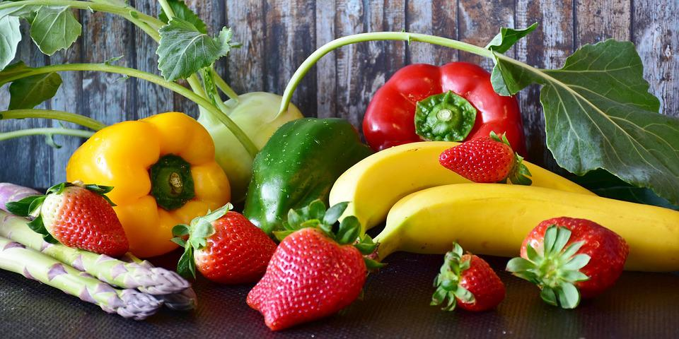 Fruit, Vegetables, Paprika, Kohlrabi, Asparagus