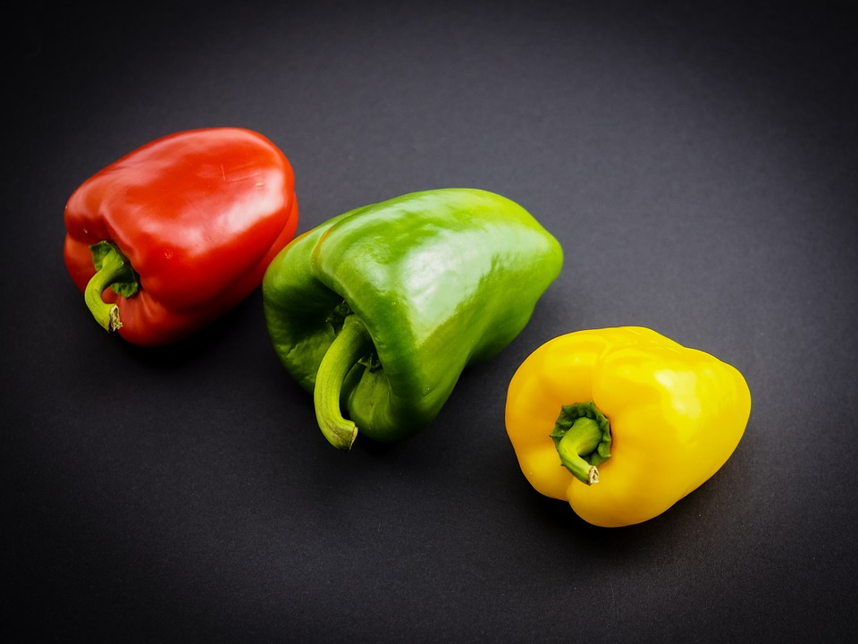Paprika, Vegetables, Red Pepper, Food, Green