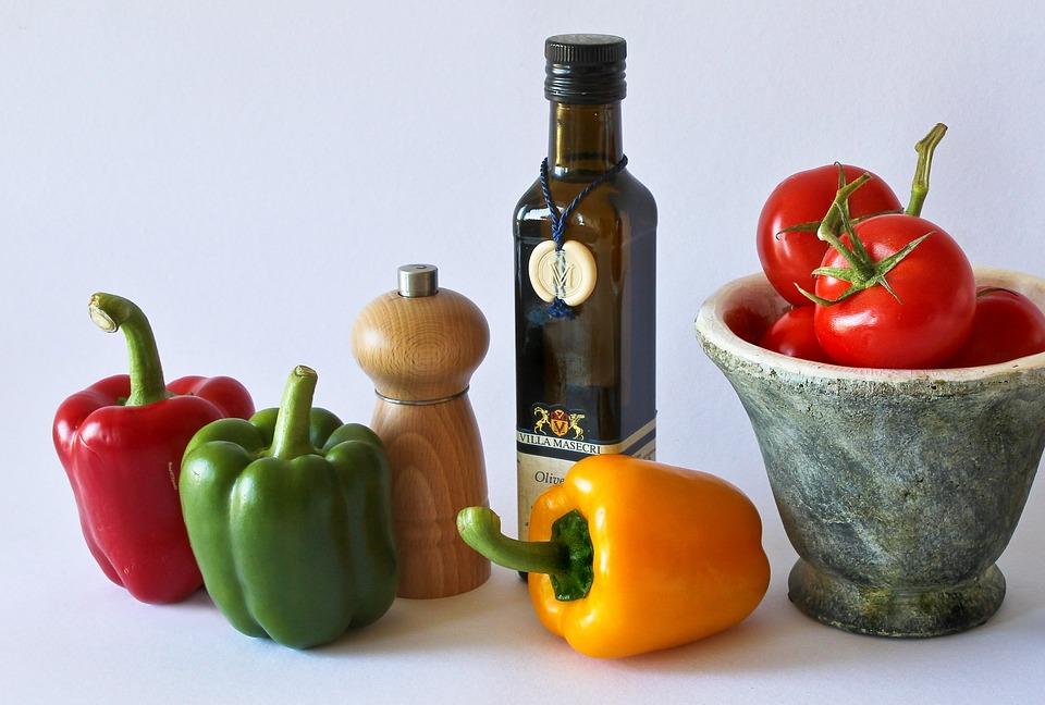 Paprika, Tomatoes, Food, Vegetables, Red, Vitamins