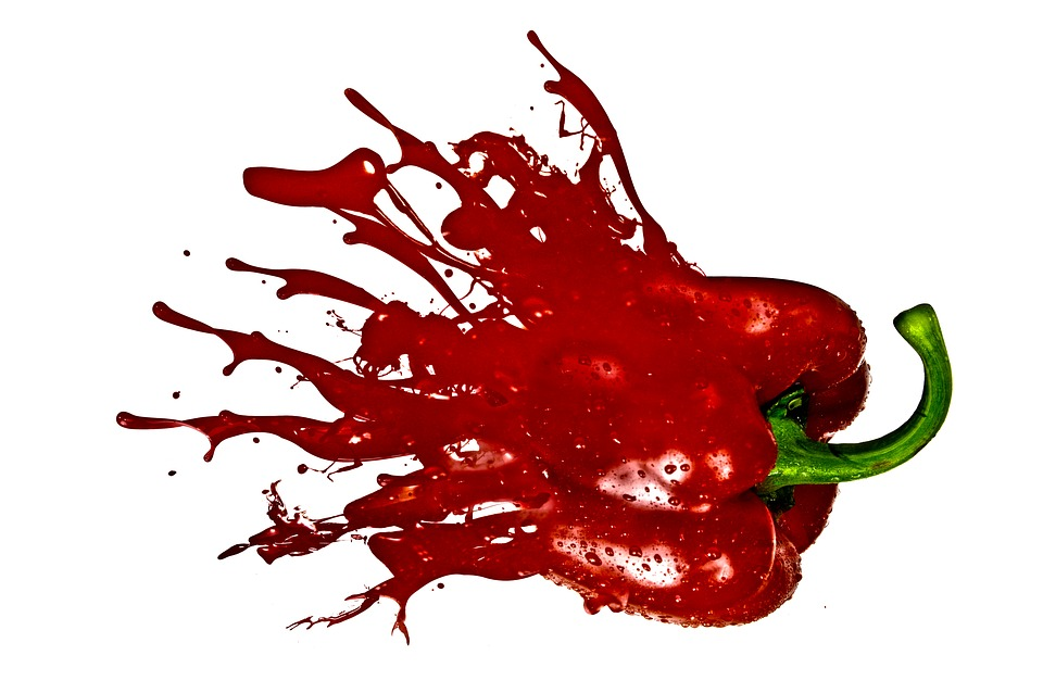 Paprika, Splash, Vegetables, Photo Manipulation
