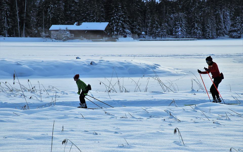 Icy, Route, Skis, Para, Snow, Relaxation, Trail, Cold