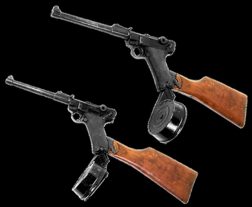 Gun, Automatic, Machine Gun, Luger, Parabellum, Caliber