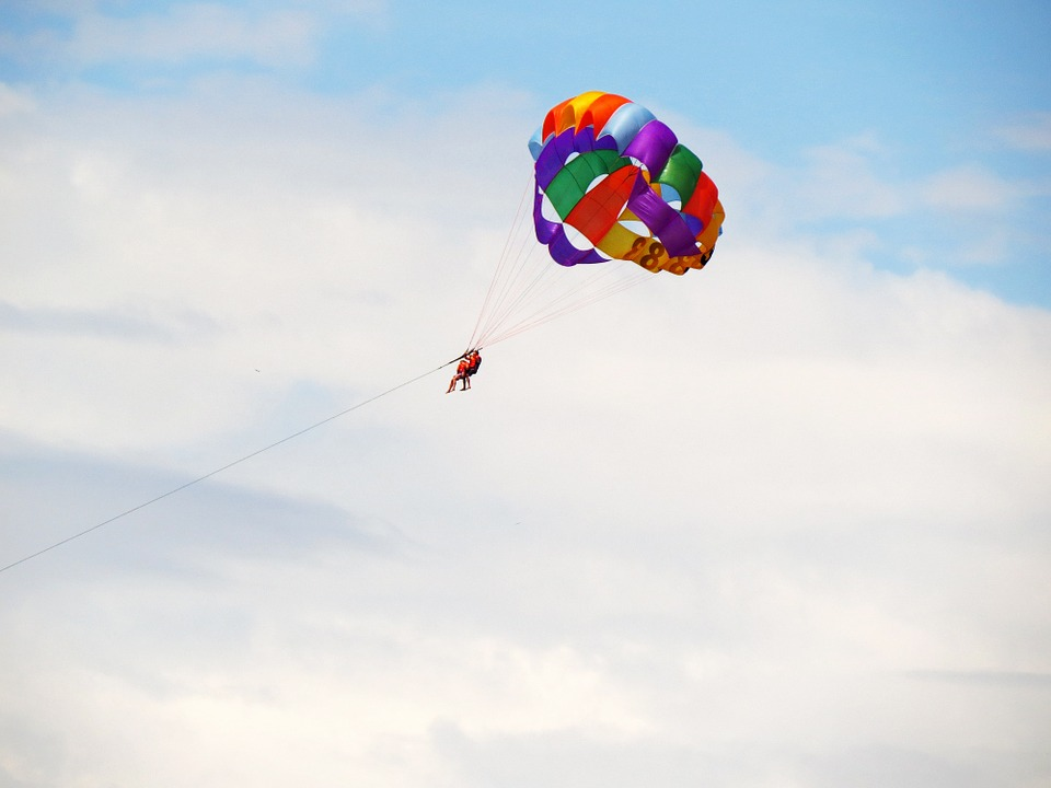Parachute, Sky, Fly, Colors, Fun, Freedom