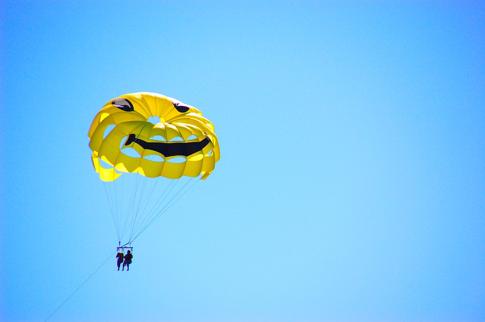 Sports, Parachute, Paraglider, Sky, Paragliding