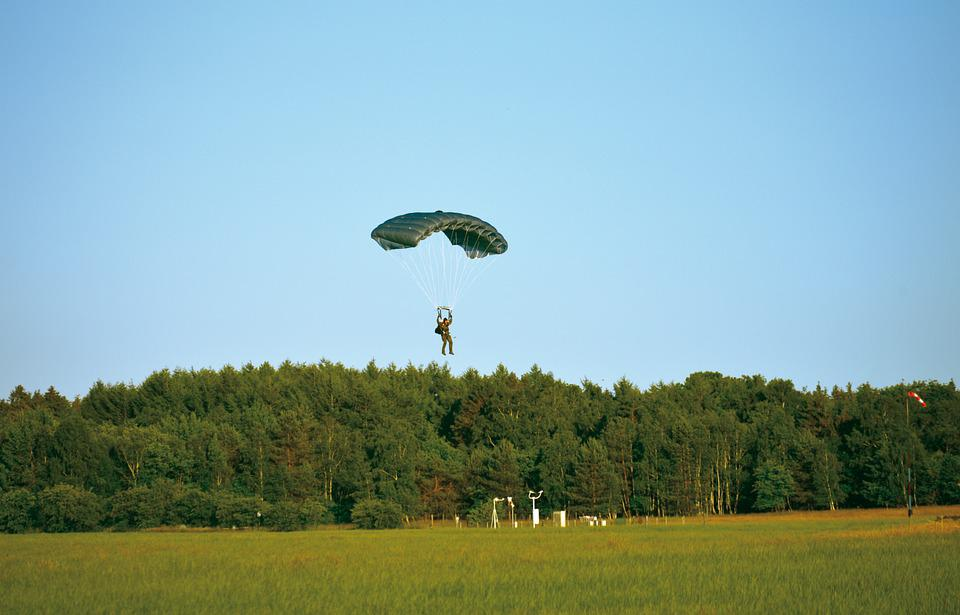 Parachute, Skydiving, Training, Exercise, Landing