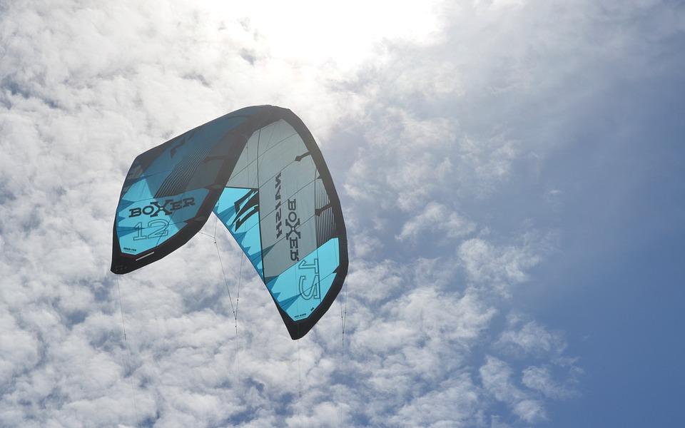 Parachute, Clouds, Sky, Parachuting, Skydiving
