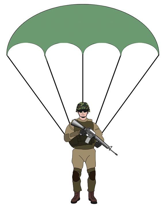 Parachutist, Parachute, Army, Parachuting, Paratrooper