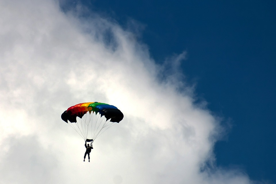 Skydiving, Sport, Extreme Sports, Parachutist