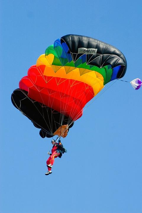 Skydiving, Sport, Extreme Sports, Parachutist