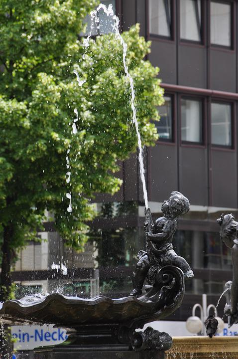 Mannheim, Parade Ground, Grupello Fountain, Fountain