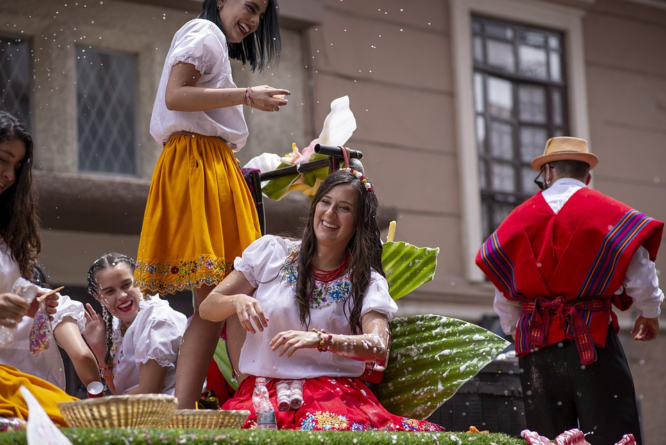 Parade, Carnival, Women, Cuenca Ecuador, Celebration
