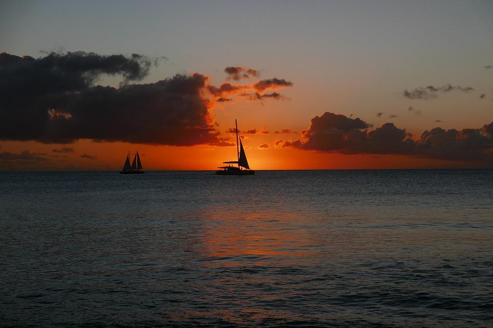 Barbados, Sunset, Caribbean, Silhouette, Paradise