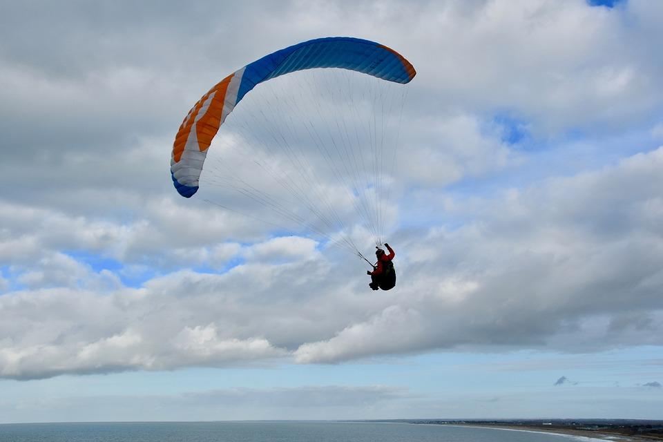 Paragliding, Paraglider, Sailing Wing, Aircraft, Fly