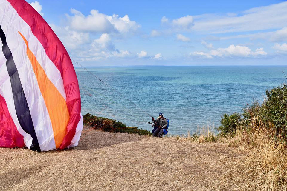 Paragliding, Paraglider, Inflation Of Sail