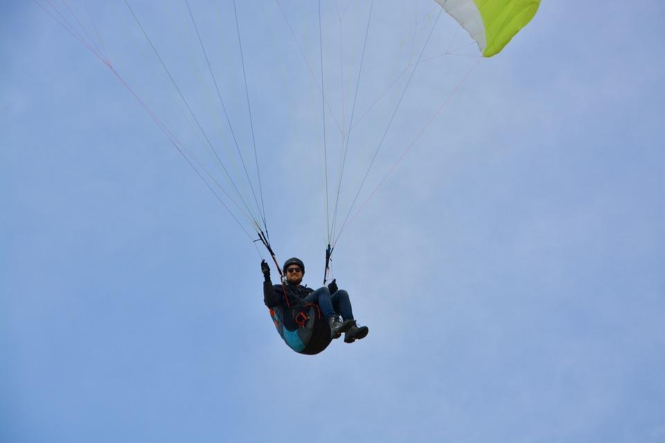 Paragliding, Paraglider Pilots Sit Harness, Paraglider