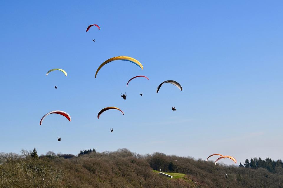 Paragliding, Paraglider, Sails Of Paragliders