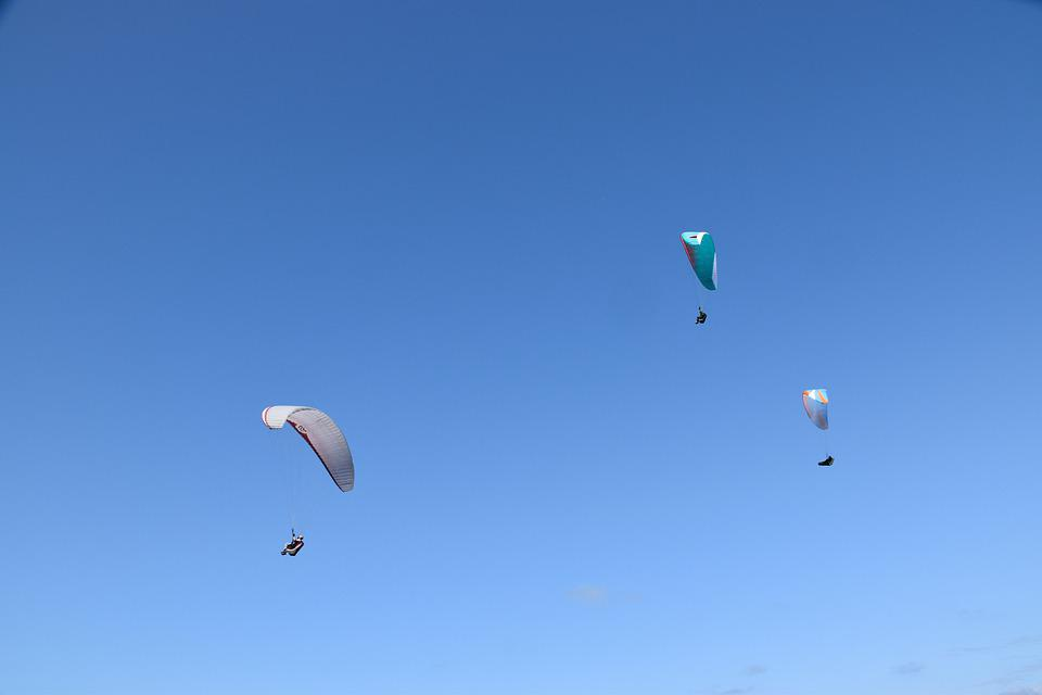 Paragliders, Fly Free, Fly, Aircraft, Nature, Wind