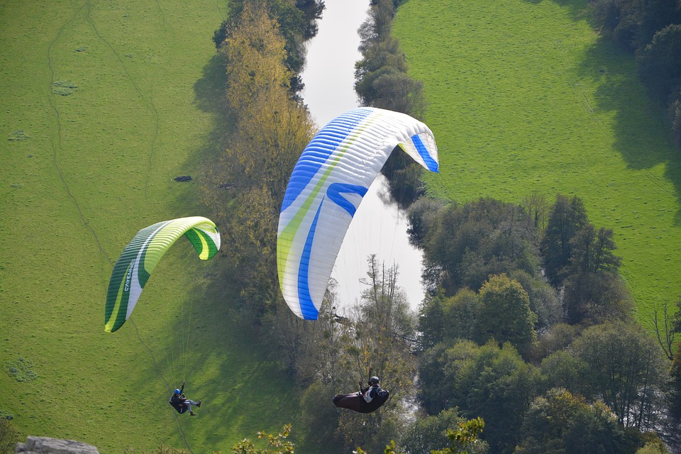 Paragliders, Practice In Free Flight, Para Motor, Wind