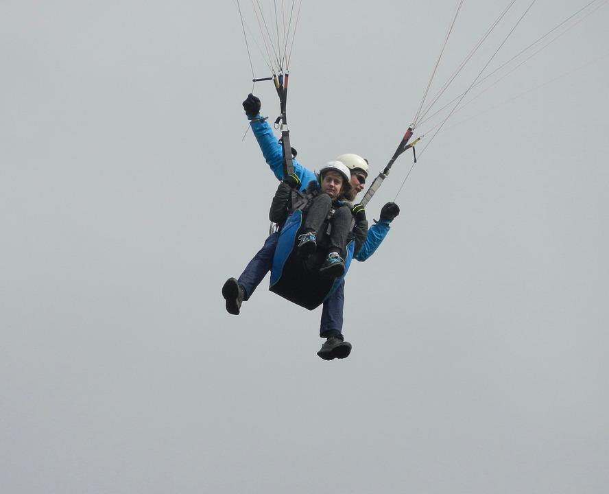 Paragliding, Paragliding Bis Place, Free Flight, Air