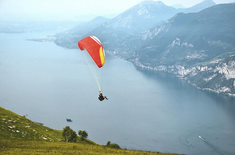 Paragliding, Garda, Air Sports, Floating Sailing, Pilot