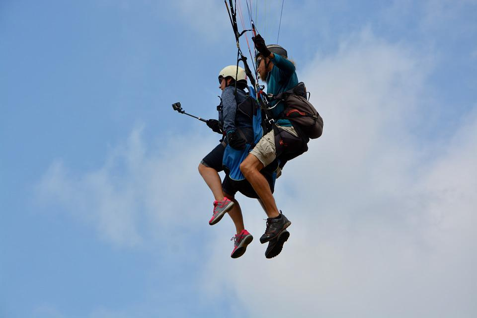 Paragliding, Take Off, Harnesses, Paragliders