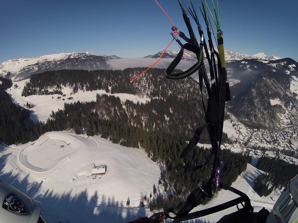 Paragliding, Mountain, Mountain Sport