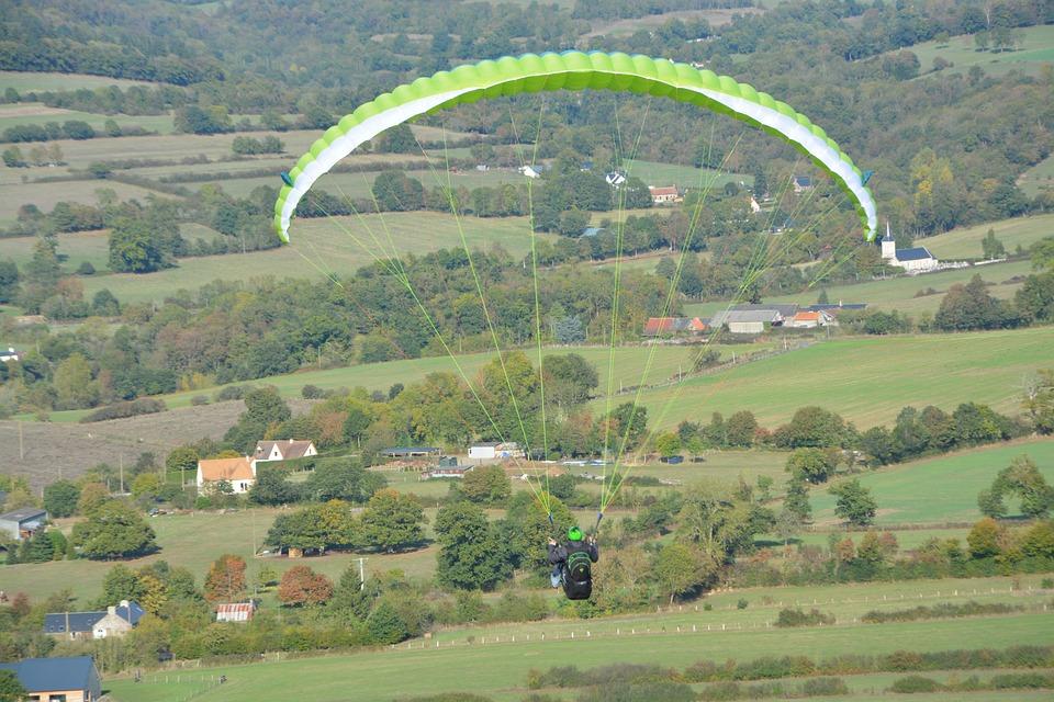 Paragliding, Paraglider, Free Flight, Aircraft