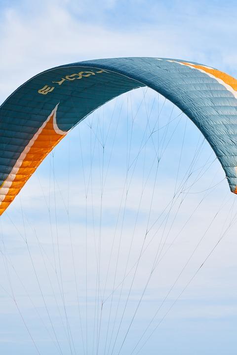 Paragliding, Parachute, Fly, Marine, Beach, People