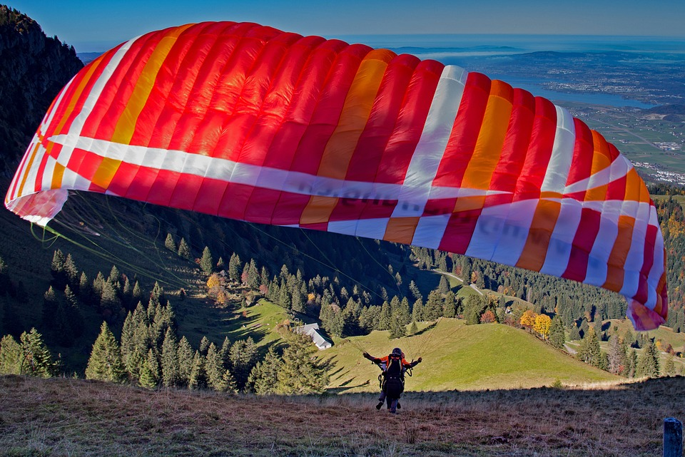 Paragliding, Start, Paraglider, Clipping Stage, Fly