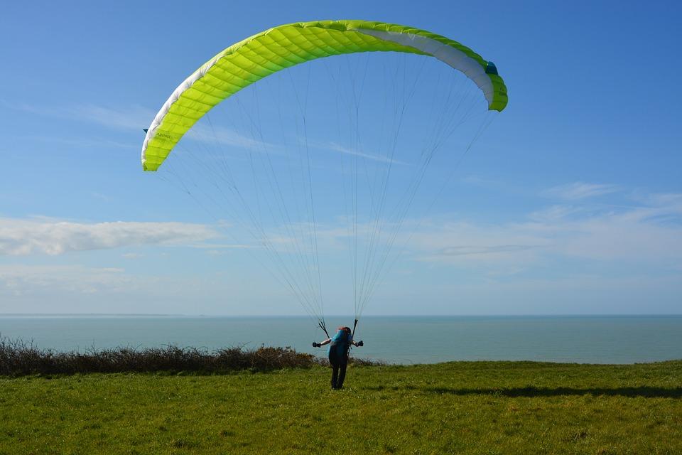 Paragliding, Take Off Paragliding
