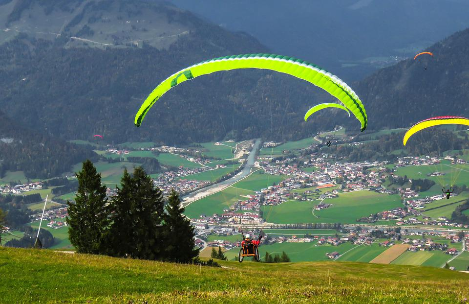 Sport, Fly, Paragliding, Paraglider, Wheelchair