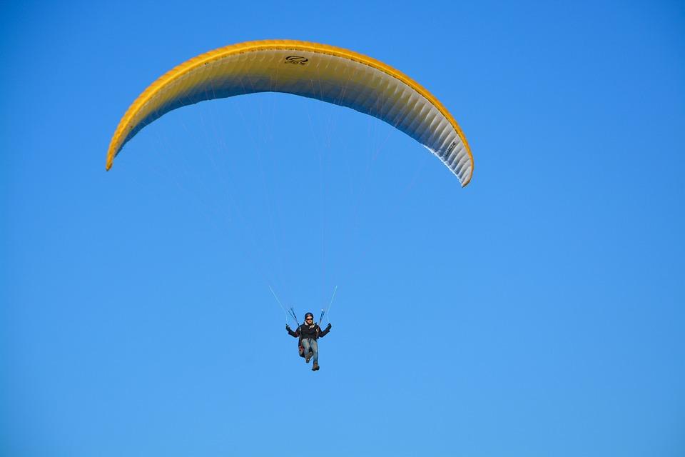 Paragliding-paraglider, Flight, Free Flight, Landing