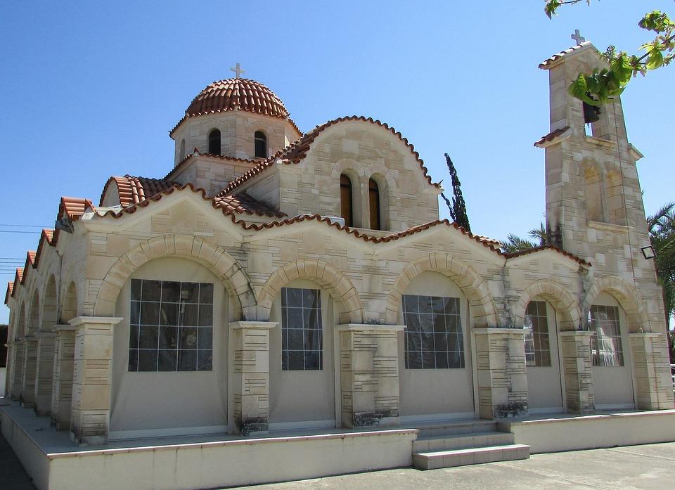 Cyprus, Paralimni, Ayios Nektarios, Church, Orthodox