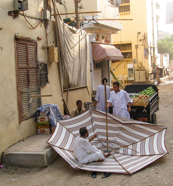 Egypt, Aswan, Artisans, Parasol