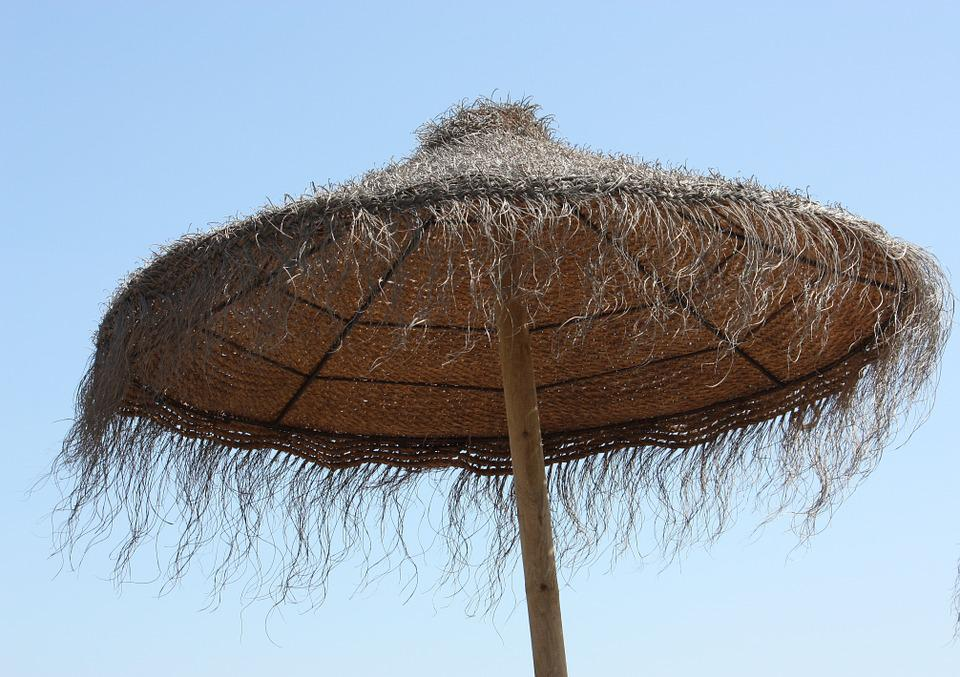 Holiday, Parasol, Tropical, Blue Sky, Relaxation, Beach