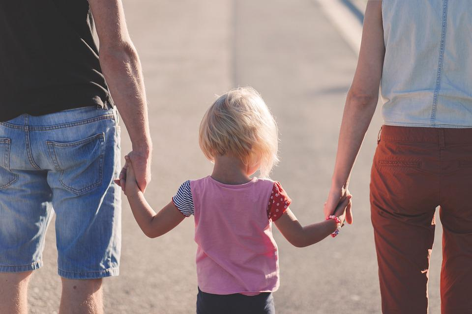 Family, Holding Hands, Parents, Child, Mother, Father