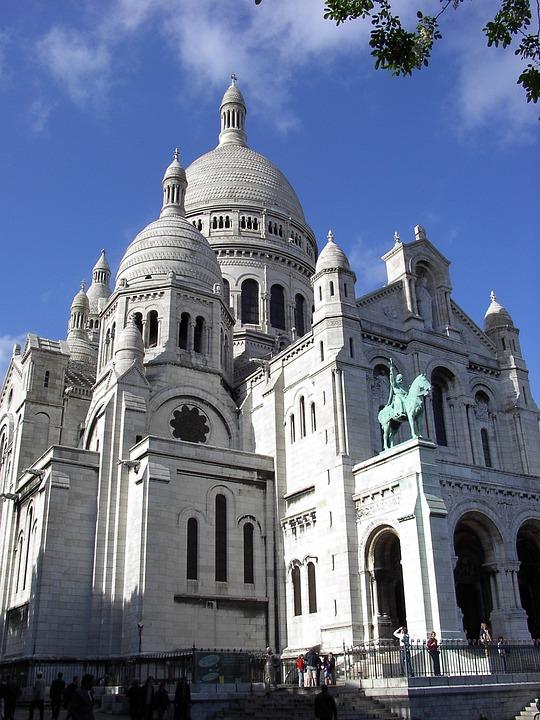 Sacre Coeur, Cathedral, Montmartre, City, Paris, Church