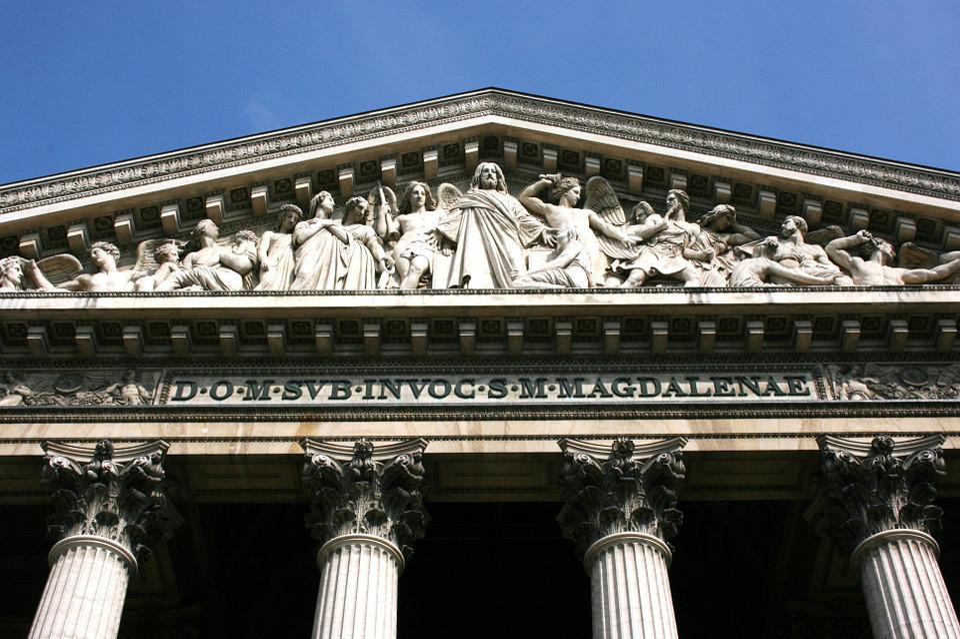 Madeleine, Church, Pediment, Paris