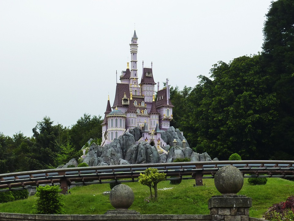Paris, France, Disneyland, Beast's Castle