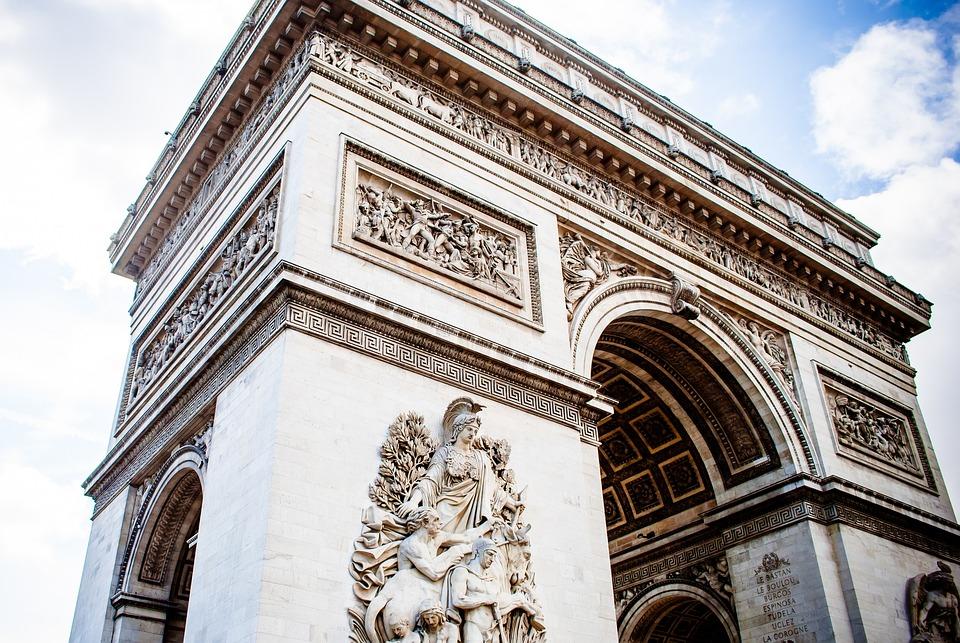 Arch Of Triumph, Paris, France, Statue, Perspective